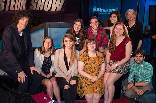 WTBU's 2016 executive board, accompanied by station faculty advisor Anne Donohue and technical advisor Jake Kassen, visited Howard Stern at his Sirius XM studio in New York City.